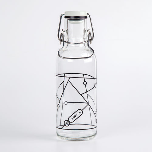 "Glasflasche ""Monochrome"", 6dl"